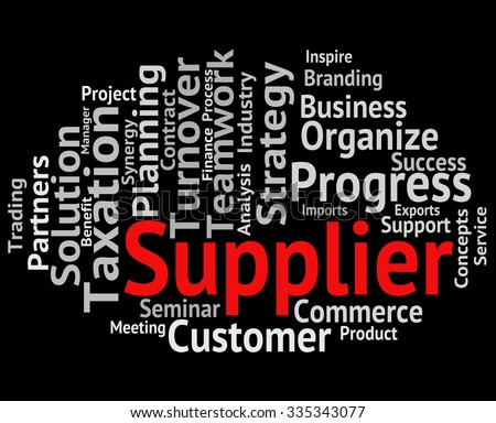 Supplier Word Representing Manufacturer Distributor And Retailer