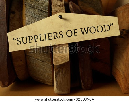 Suppliers of wood (concept)