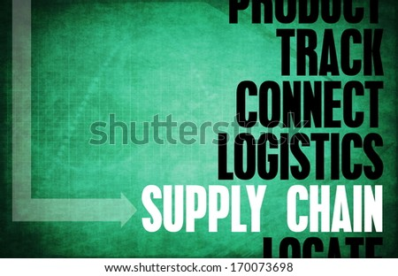 Supply Chain Core Principles as a Concept Abstract - stock photo