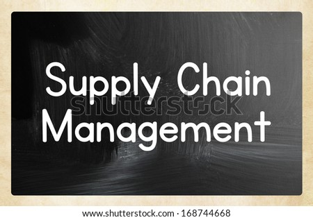 supply chain management concept