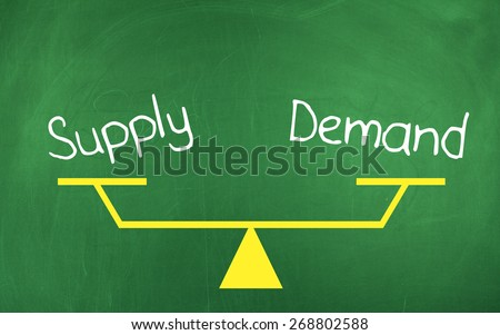 Supply Demand - stock photo