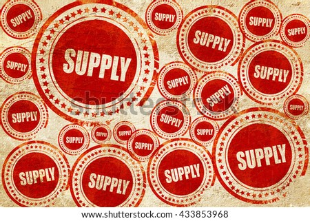 supply, red stamp on a grunge paper texture - stock photo