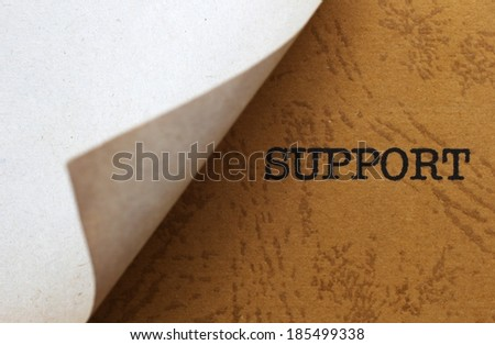 Support - stock photo