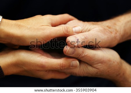 Support and assistance to the elderly - stock photo