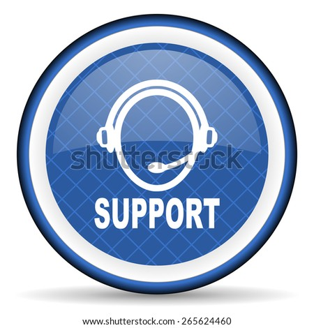 support blue icon   - stock photo