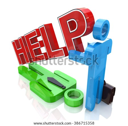 Support business partner in the design of related information to support - stock photo