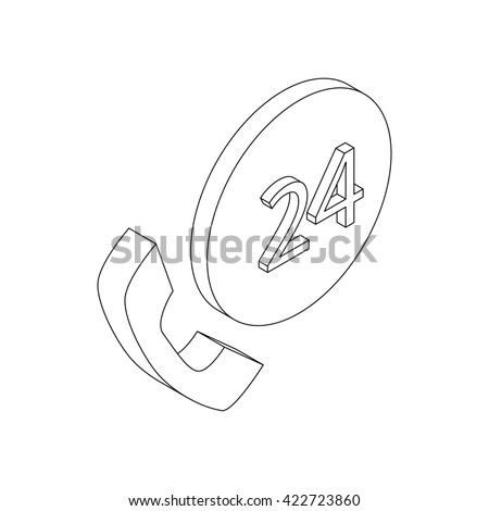 Support center icon - stock photo