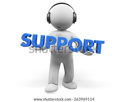 Support. 3D. Support - stock photo