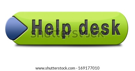 support desk icon or help desk button technical assistance and customer service - stock photo