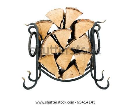 Support for fire wood - stock photo