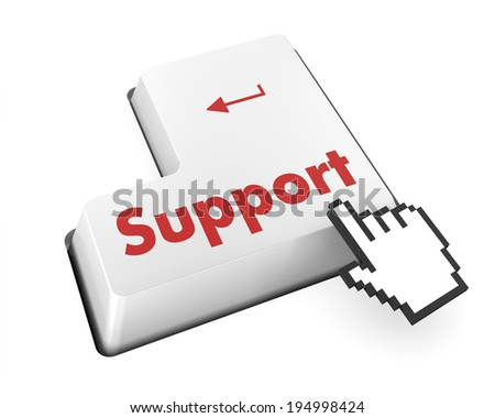 support keyboard button