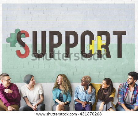 Support Social Help Charity Care Concept - stock photo