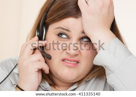 support woman in trouble - stock photo