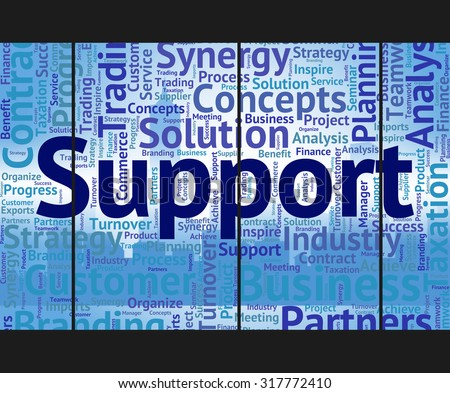 Support Word Meaning Help Wordcloud And Supports