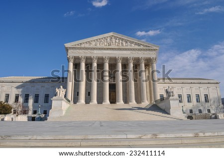 Supreme Court Building - stock photo