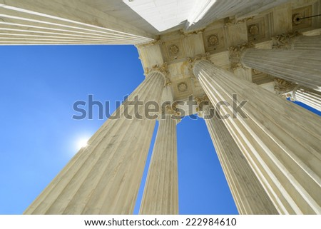 Supreme Court Building architectural details - Washington DC, United States of America