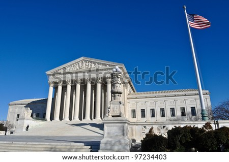 Supreme Court Building in Washington DC - stock photo