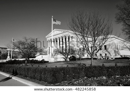 Supreme Court during Winter