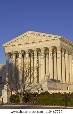 Supreme Court in Washington, DC, United States of America - stock photo