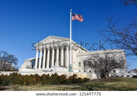 Supreme Court of the United States in the Winter - stock photo