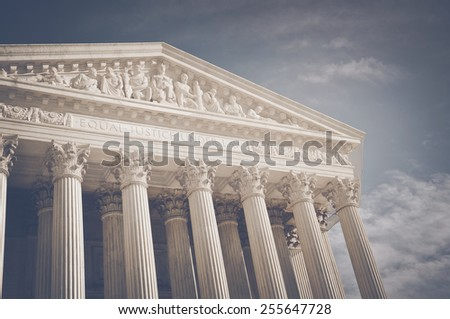 Supreme Court of the United States of America in retro Instagram Style - stock photo