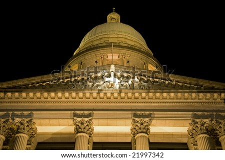 supreme court statue of justice - stock photo