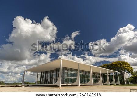 Supreme Federal Tribunal - Brasilia, Brazil  - stock photo