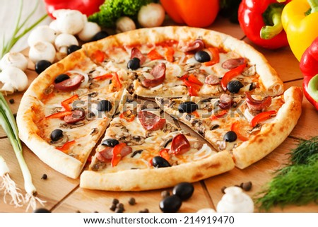 Supreme Pizza - stock photo