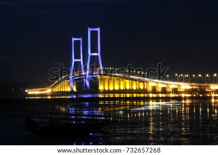 Suramadu Bridge in Surabaya, East Java, Indonesia