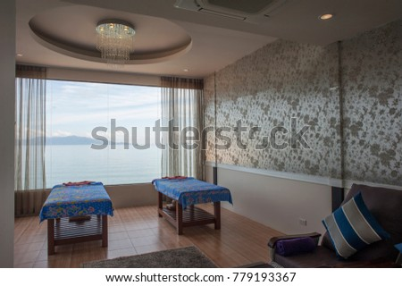 Surat Thani - Koh Samui , Thailand - February 4, 2017 : View from D's Spa thai spa and massage room at  Koh Samui or Samui Island Surat Thani Province , Thailand