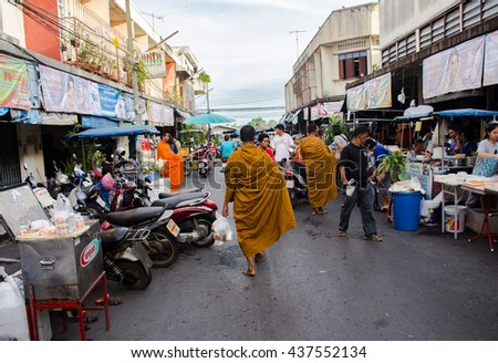Suratthani, Thailand - June 16,2016: ?Street food night market Suratthani City, Thailand.