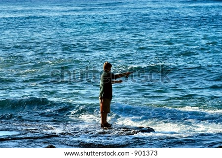 Surf Fisherman #2 - stock photo