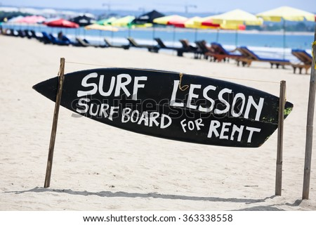 Surf Lessons - stock photo
