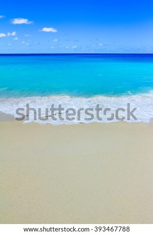 Surf Scene Beach  - stock photo
