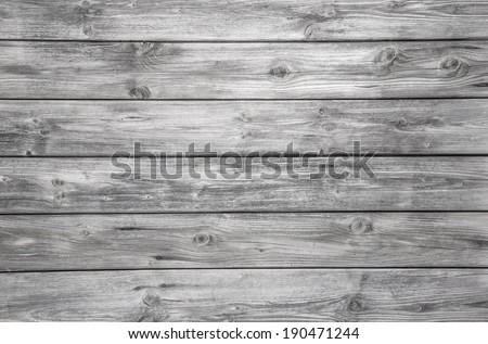 Surface of an empty grey wooden background. Shabby Style. - stock photo