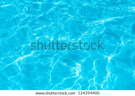 surface of blue swimming pool, background of water in swimming pool.