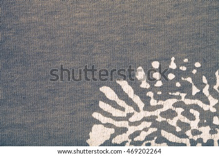 Surface of cloth for textured background. Toned.