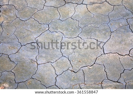 Surface of cracked ground for texture background