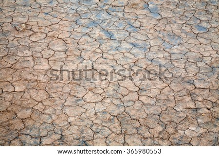 Surface of cracked ground for texture background.