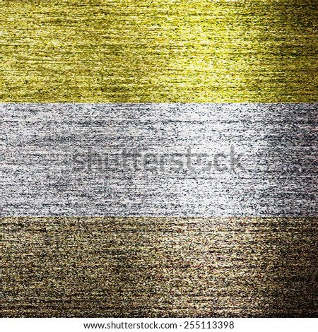 Surface of gold, silver and bronze metal - stock photo