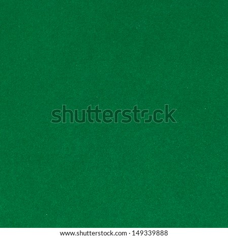 Surface of green velvet cover on the pool table - stock photo