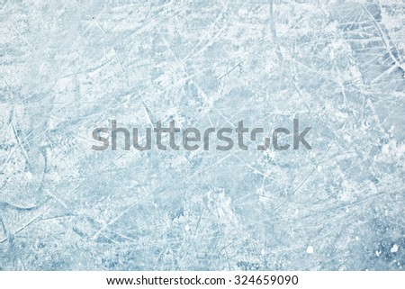 Surface of ice field in winter - stock photo