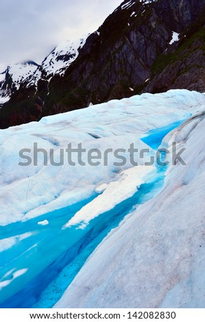 Surface of Mendenhall Glacier Juneau Ice Field Alaska