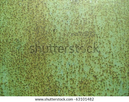Surface of metal painted - stock photo