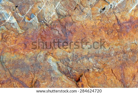 surface of the marble with red brown tint, rock background - stock photo