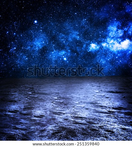 Surface of the Moon - Elements of this Image Furnished by NASA - stock photo