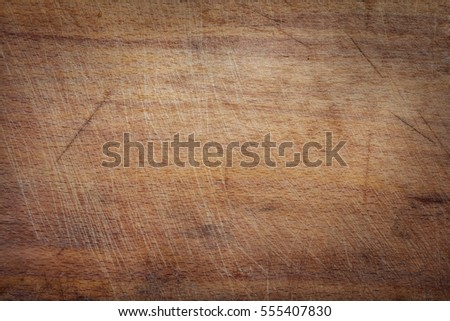 Surface of the old wooden planks oak kitchen board background