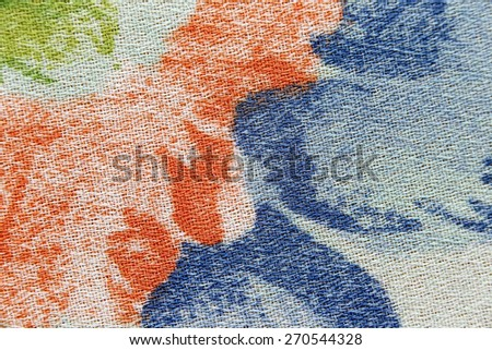 surface of the patterned fabric for the background.