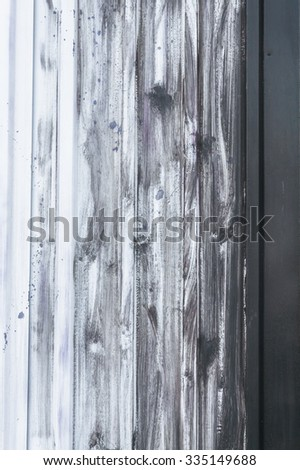 Surface of the sheet metal painted with white paint