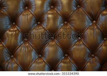 Surface of the sofa, elegant look.